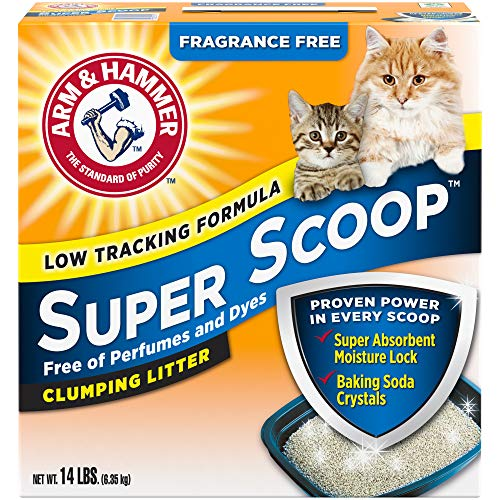 Arm & Hammer Super Scoop Clumping Litter, Fragrance Free 14lb