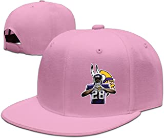 Show Time Running Back #28 AP Baseball Hat Adjustable Flat Bill Cap Black
