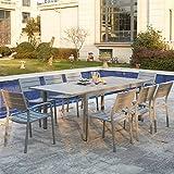 Mon Usine 211999el Daphné salón de jardín Extensible 8plazas en Aluminio Blanco 166x 100x 76cm
