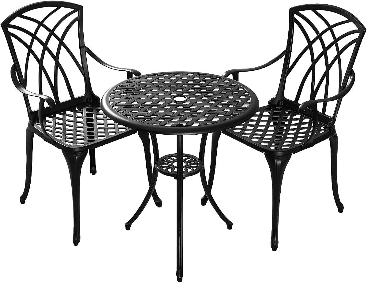 Buy Kinger Home 9 Piece Patio Bistro Table Set, Cast Aluminum ...