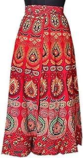 Rangun Printed Cotton Wrap Around Skirt For Women's