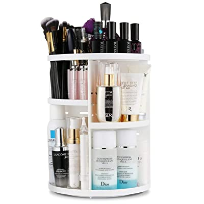 Makeup Organizer 360-Degree Rotation Adjustable...