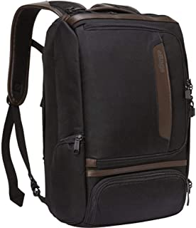 eBags Professional Slim Laptop Backpack with Leather Trim for Travel