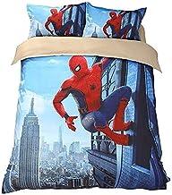 XWXBB Parure de lit Spiderman 3 pièces avec housse de couette 3D - Parure de lit 3 pièces (housse de couette + 2 taies d'o...