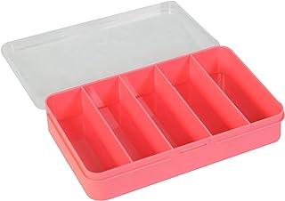 صندوق تخزين خرز بلاستيكي من ايفريثينج ماري 5 - 5 مساحات تخزين كاملة - منظم للخرز الكبير والصغير- شنطة بلاستيكية سهلة الاغل...