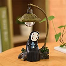 Kimkoala Spirited Away Figures, Cute Studio Ghibli Miyazaki No Face Man with Night Lamp Light Action Figure Toys for Children Gift for Home Garden Decoration with Cute Blue