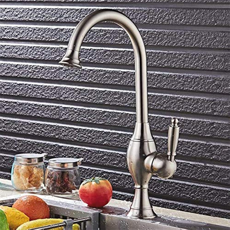 Hjbds moderne becken wasserhahn bad wasserhahn waschbecken kopf gebürstet warmes und kaltes wasser einlochmontage bad waschbecken bad wasserhahn
