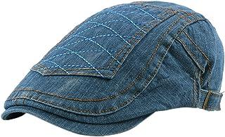 JUNGEN Gorra de Boina para Hombre Mujer Boina de algod/ón Boina a Cuadros Moda Sombrero de Pintor Gorra de Visera para Primavera y Verano Accesorios de Ropa Caqui