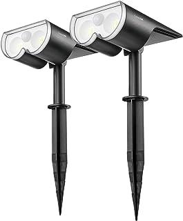 Consciot 650 Lumen LED Solar Motion Sensor Light Outdoor, Landscape Spotlights IP67 Waterproof Solar Security Light, Wall ...