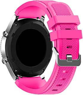 accessoryME Replacement Band Compatible with Samsung Galaxy Watch 3 45mm, 22mm Silicone Quick Release Band Sport Strap for...
