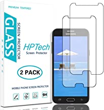 HPTech Galaxy J3 2017 Screen Protector - (2-Pack) Tempered Glass for Samsung Galaxy J3 Luna Pro/ J3 Prime/ J3 Mission/ J3 Emerge/ J3 Eclipse Easy to Install with Lifetime Replacement Warranty