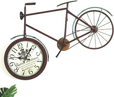 Xue-clock Reloj de Pared, Nuevo Hierro Forjado con Vidrio ...