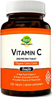 Vitamin C 1000mg from Camu Camu. Natural C Supplement as Nature Intended. 120 Tablets