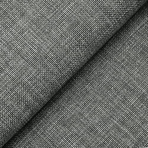 DESHOME Sirma - Tessuto al Metro Idrorepellente per divani cuscini sedie letti copriletto stoffa h 140 resistente (Grigio, 1 metro)