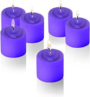 Decor Hut Lavendar Scented Candle with Flower Design on Top, Set of 24, Valentines Candle, Great for Parties,Fundraiser, Weddings and Every Day Use,