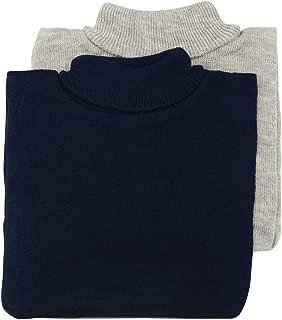 Turtleneck Knit Dickey-Unisex-Wind Proof-Warm Neck/Chest-Navy-Grey