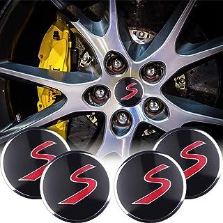 TAYDMEO 54mm 4pcs Car Wheel Hub Cover Tire Center Hub Caps Sticker Decor,for MINI Cooper S R56 R60 R61 F55 F56 F60