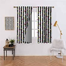 Abstract Fashion Curtain Hand Drawn Vertical Monochrome Stripes Background with Colorful Dotted Pattern Noise Reducing 55