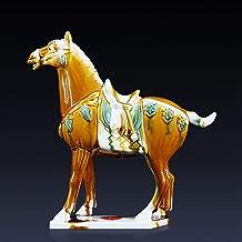 Sculptuur Standbeeld - Creatieve Antieke Chinese Porselein Paard Pommel Standbeeld Antieke Keramische Paard Mode Sculptuur...