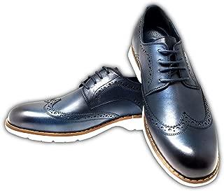 Mr. Jog Men's Premium Casual Wingtip Dress Shoe | Comfortable Insole | Lace Up | Rubber Sole