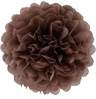 25cm Khaki//Pale Brown Tissue pom poms Pompoms Decorations Accessories for Wedding Birthday Baby Shower holy Communion Graduation Baptism Party Christmas Paper Flower Balls JZK 10x 10inch