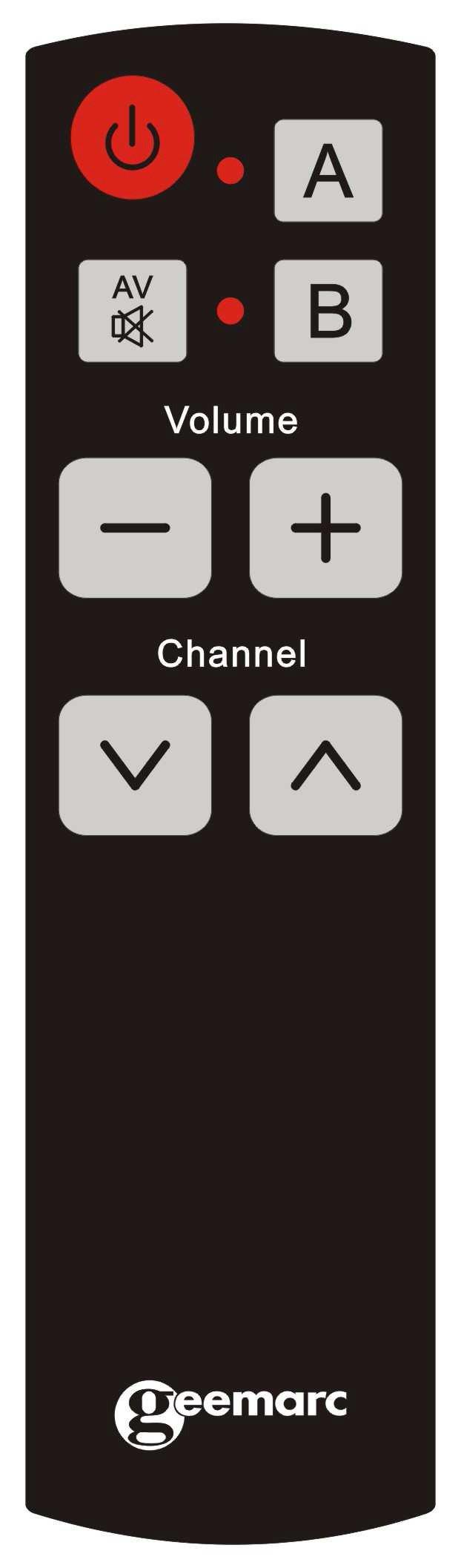 Geemarc Easy TV5 - Mando a Distancia Universal (8 Teclas, programable para Personas con deficiencias visuales), Color Negro: Amazon.es: Electrónica