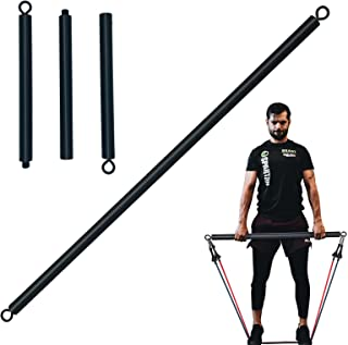 MOSENNY Resistance Band Bar 26 or 39 Inch, Workout Bar for Use with Resistance Bands or Cable Machine Max Load 700lb, Home...
