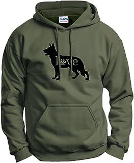 ThisWear German Shepherd Love Dog Paw Prints Hoodie Sweatshirt