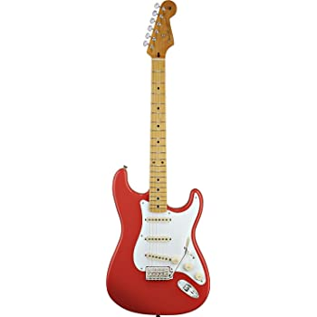 Fender Classic Series 50s Stratocaster Electric Guitar with Maple Fingerboard - Fiesta Red