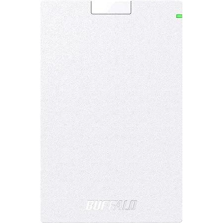 BUFFALO USB3.2(Gen1)対応ポータブルHDD Type-Cケーブル付 1TB ホワイト HD-PGAC1U3-WA