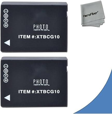 2 High Capacity Replacement Panasonic DMW-BGC10 / DMW-BGC10PP Batteries for Panasonic Lumix DMC-3D1, DMC-TZ6, DMC-TZ10, DMC-TZ18, DMC-TZ19, DMC-TZ20, DMC-TZ25, DMC-TZ30, DMC-TZ35, DMC-ZR1, DMC-ZR3, DMC-ZS1, DMC-ZS5, DMC-ZS6, DMC-ZS7, DMC-ZS8, DMC-ZS9, DMC-ZS10, DMC-ZS15, DMC-ZS19, DMC-ZS20, DMC-ZS25, DMC-ZX1, DMC-ZX3 Digital Cameras