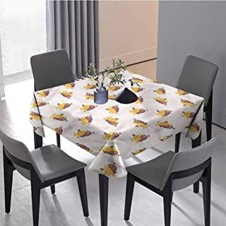 JKTOWN Bird Personalized Durable Tablecloth Table Parties Holiday Dinner 60x60 inch Funny Avian Animal Beak Claws