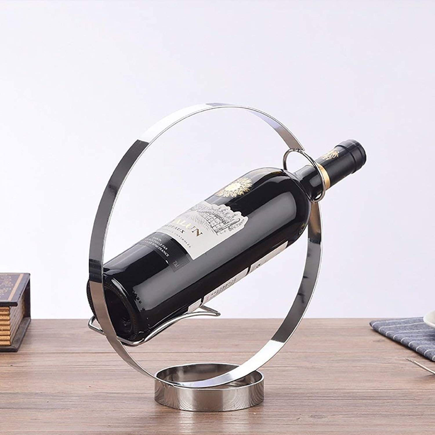 Red Wine Shelf Stainless Steel Handmade Wine Rack Ornaments Decorations for Kitchens Living Room (color   gold) (color   Silver)