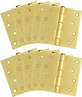 """Design House 181644 10-Pack Hinge 4"""", Satin Brass"""