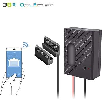 ECOOLBUY Smart WiFi Kit de abridor de puerta de garaje con control remoto para smartphone, compatible con Alexa/Siri/Google Home/IFTTT, fácil de instalar: Amazon.es: Bricolaje y herramientas