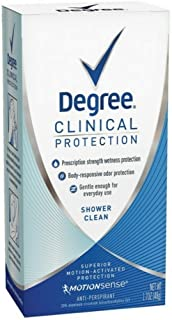 Degree Women Clinical Protection Anti-Perspirant Deodorant Shower Clean 1.70 oz (pack of 3)