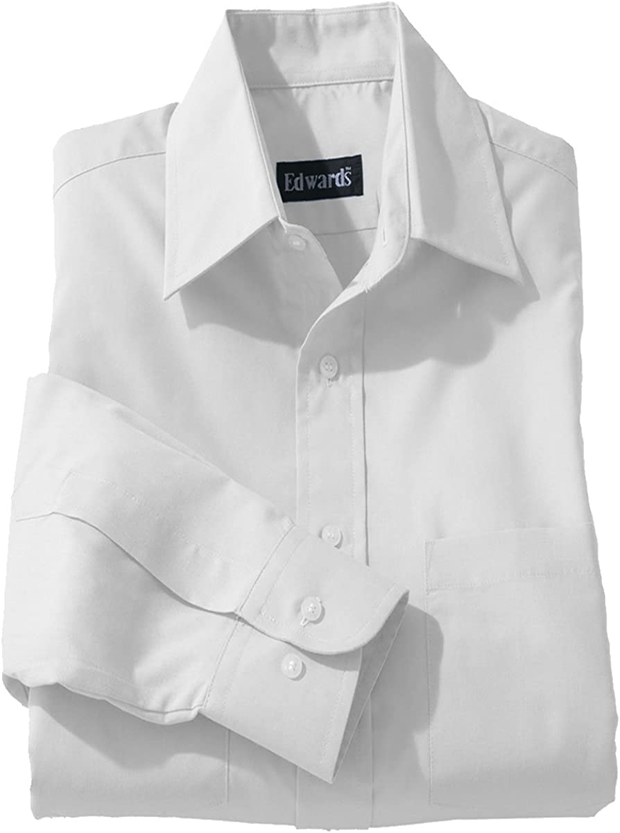 Max 79% OFF Edwards Super sale Men's Traditional Long Shirt Broadcloth Sleeve