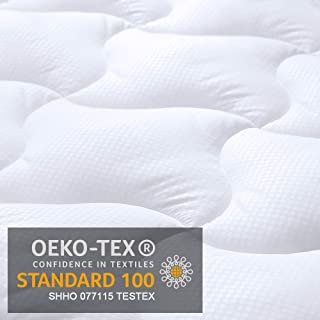 viewstar Mattress Pad Cover Quilted Full Size, Overfilled Soft Down Alternative Mattress Topper up to 21 inch Extra Deep Pocket for Double Bed, Cooling Breathable and Hypoallergenic(54 x 75 inches)