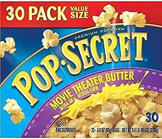 Pop Secret Popcorn, Movie Theater Butter, 30 Count bags Of 3.0oz Each