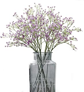 Gumolutin 9PCS Long Stem Artificial Baby Breath Flowers Fake Real Touch Gypsophila for Home Office Indoor Outdoor Wedding Decoration Festive Furnishing, Purple