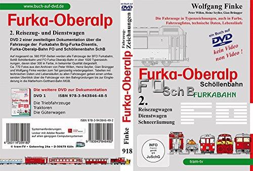 Die Fahrzeuge der Furka-Oberalp-Bahn Teil 2: 2. Reisezugwagen, Dienstwagen und Schneeräumung