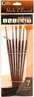 Loew-Cornell 1024917 Studio Elements Long Handle White Nylon Round Brush Set 4-Piece
