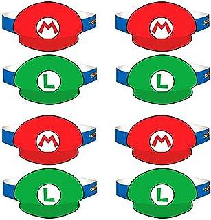 スーパーマリオ帽子8ct [に製造元3Retail Unit ( S ) per Amazon CombinedパッケージSalesユニット]–Sku # 250526