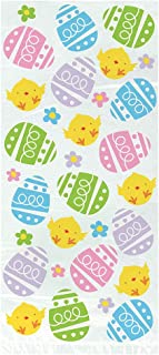 Unique Party 72647 - Cellophane Gingham Easter Party Bags, Pack of 20
