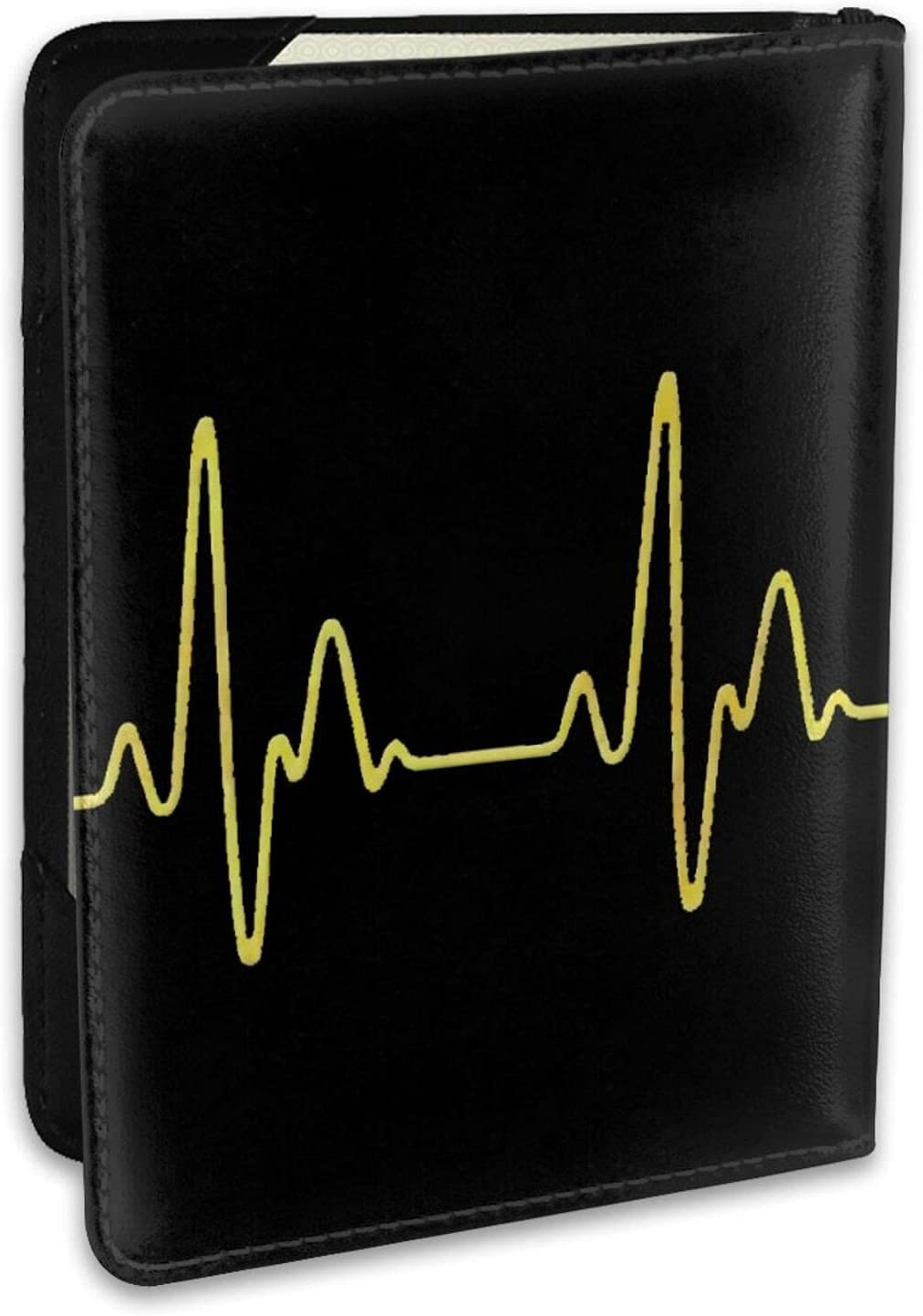 Pickleball Heartbeat Golden Leather Passport Holder Case Fixed Max 45% OFF price for sale Cover