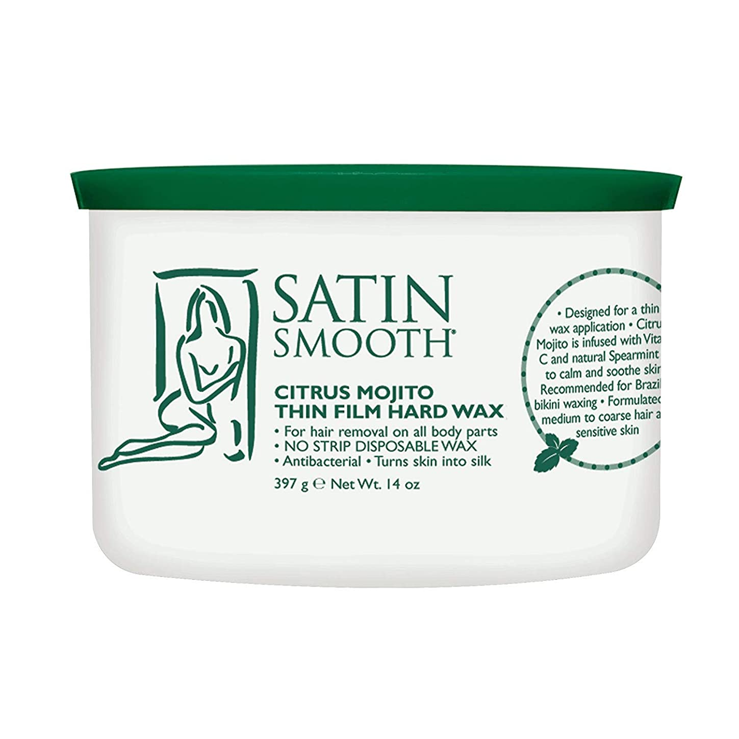 ピケ喪パテSatin Smooth Citrus Mojito Thin Film Hard Wax (並行輸入品)