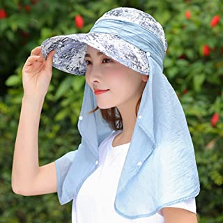 WOAINI Women Outdoor Legionnaire Hat Camping Fishing Cycling Sun Protection Hat Cap with Detachable Flap Neck Protector UPF 50+ Anti-UV Summer Travel Gardening Beach Hat (Color : E)