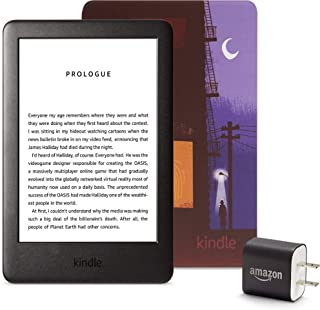 Kindle Essentials Bundle including Kindle, now with a built-in front light, Kindle Printed Cover, and Power Adapter