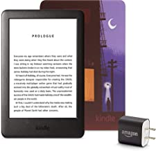 Kindle Essentials Bundle including Kindle, now with a built-in front light, Amazon Printed Cover, and Power Adapter
