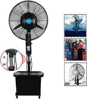 Ventilador de fábrica vertical móvil Ventilador industrial Circulador Ventilador de atomización potente Ventilador de nebulización Ventilador de piso Humidificador Ventilador frío Ventilador eléctri